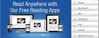 Read anywhere with our free reading apps